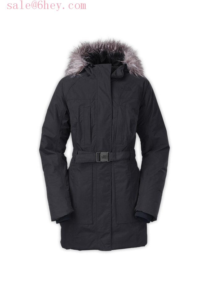 moncler fitted down coat
