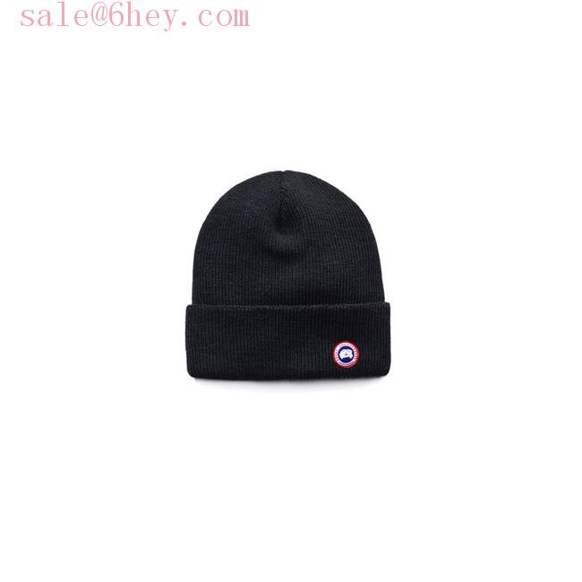 moncler ribbed knit beanie hat