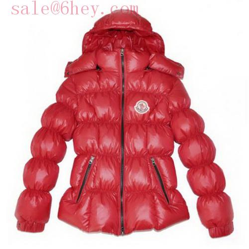 red moncler coat fur hood